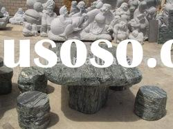 stone carving stool and table