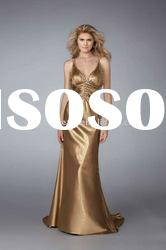 2012 dresses fashion fishtail evening dress with pleating and beading
