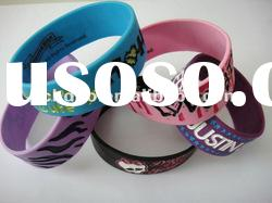 2012 hot selling and cheapest debossed silicone bracelet/ Debossed silicone wristband