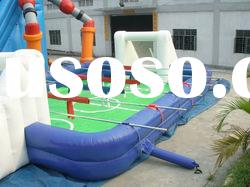 2012 new pvc inflatable football field inflatable soccer ball