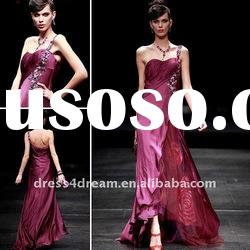 2012 women fashion without dress pleated and beaded
