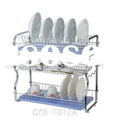 22' 3-Tier Chrome Wire Dish Rack