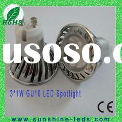 3W White GU10/E27 high power e27 led spotlight 85-265v with CE&ROHS