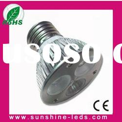 3W White GU10/E27 par led spotlight 85-265v with CE&ROHS
