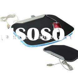 4 port USB Hub Mouse Pad with LED indicator