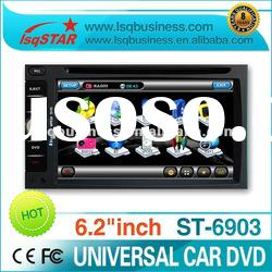 6.2inch 2 din car dvd with gps navi/ ipod/tv/ radio rds/ bt/ v-cdc/ pip/ dual zone, great functions!