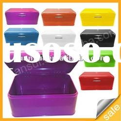 8 color stainless steel big size bread bin