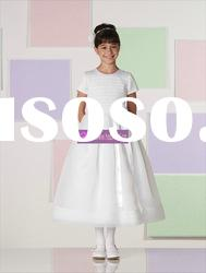 A-line Scoop Organza Flower Girl Dresses