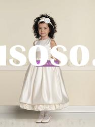 Ball Gown Scoop Satin Shine Lovely Flower Girl Dresses