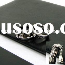 Black Stainless steel rings