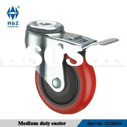 Bolt hole brake caster wheel of medium