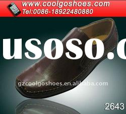 China Famous brand men leather casual shoes with top quality