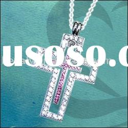 Christian cross pendant .925 silver jewelry (Call us toll free: +1-888-5513593)