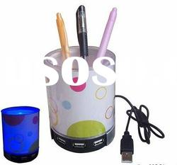 Colorful 4 sports high speed USB HUB with Pen Holder