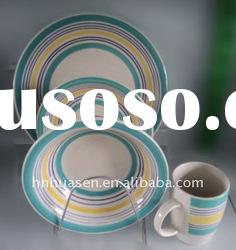 Colorful dinnerware sets,16pcs hand painted dinnerware sets