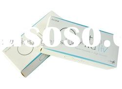 Cosmetic packaging box with embossing