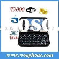 Dual Sim T3000 WiFi TV mobile phone with Qwerty Keyboard