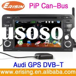"Erisin 7"" SWC Audi A3 DVD GPS Navigation Double 2 DIN Radio In-dash Player"