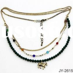 Fashion Chain Alloy Necklace with Horse Pendant