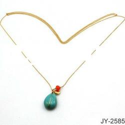 Fashion Chain Alloy Necklace with Pendant