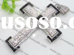 Fashionable stainless steel Jewelry, Wholesale cross Rhinestone Pendant