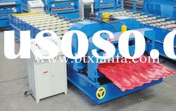 Glazed tile metal sheet roll forming machine XF25-183-1100