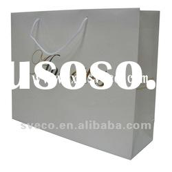 Gold Foil Logo Bag, White Art Paper Bag