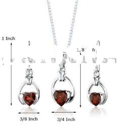 Heart Diamond Necklace And Earrings Jewelry Set. Fashion Women Alloy Jewelry Sets