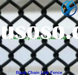 Hot sale! black poly coated chain link fence (manufacture)