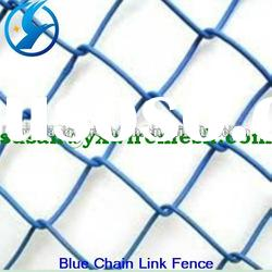 Hot sale! blue vinyl coated chain link fence (manufacture)