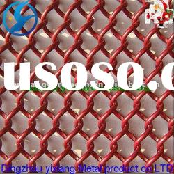 Hot sale! red vinyl coated chain link fence (manufacture)