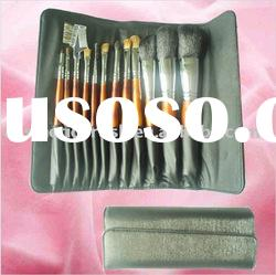 Hot selling handmade makeup brush set with cosmetic bag