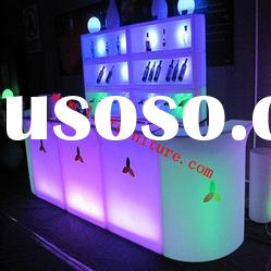 LED table/bar table with light/night club furniture/high bar table/high bar table