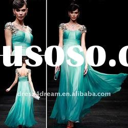 Latest design 2012 women fashion without dress with beaded and pleated