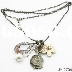 Newest Acrylic Chain Necklace with Pendant in Hot Sale