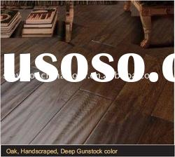 Oak Solid Wood Flooring Handscraped Smoked