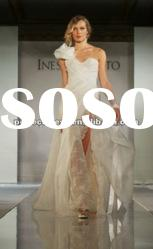 One strap front short and long back wedding dresses NSW3179