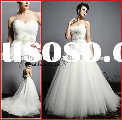 PYN2240 2012 Elegant A Line Sweetheart Organza Designer Wedding dress
