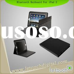 Portable Keyboard Leather Case for iPad 2