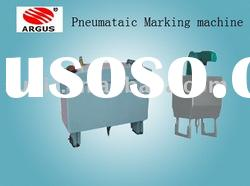 Portable pneumatic marking machine for machinery and spare parts