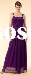 SHE183 Hot selling spaghetti strap chiffon floor-length evening Dress