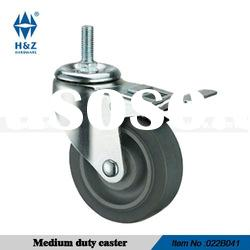 Threaded steem brake castor wheel for medium duty