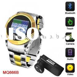 Touch Screen GSM MQ666 Watch Phone with Bluetooth Camera