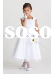 VF123 Beautiful sleeveless tulle flower girl dress