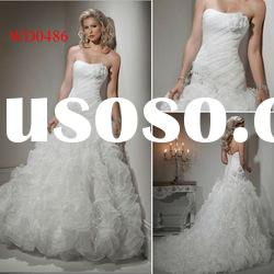 WD0486 Ball Gown Sweetheart Organza Over the Top Wedding Dresses