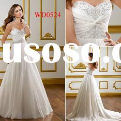 WD0524 Sweetheart A-Line Chiffon and Tulle Zuhair Murad Wedding Dresses