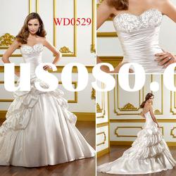 WD0529 Sweetheart Ball Gown Taffeta Bubble Skirt Wedding Dress