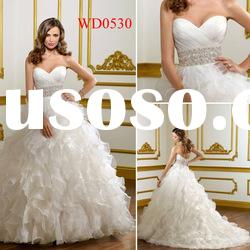 WD0530 Ball Gown Organza Wedding Dresses for Pregnant Brides