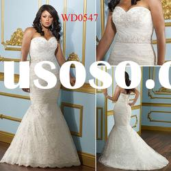 WD0547 New Arrival Sweetheart Mermaid Floor-Length Wedding Dress Plus Size