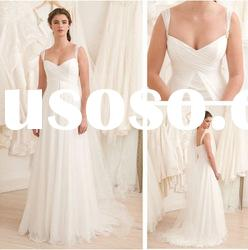WD5693 Spaghetti Strap Off The Shoulder Ivory Wedding Dresses